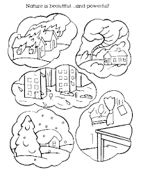 Natural Disaster Coloring Pages