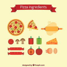 Ingredients To Make A Pizza Free Vector