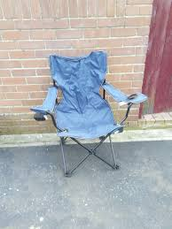 Navy Blue Camping Chair With A Bag