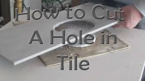 Drilling Through Porcelain Tile And Concrete by How To Cut A Hole In Ceramic Tile For Toilet Flange With An Angle