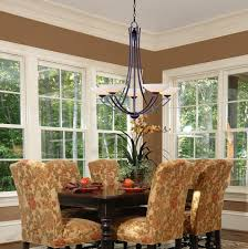Dining Room Lighting Brown Wrought Iron Arm And Candles Light Vintage Ideas Contemporary Long Yellow Tableclotch