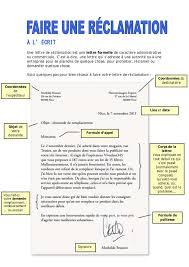 A LECRIT Une Lettre De Reclamation Est Formelle Caractere Administrative Ou