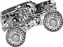 Best Monster Jam Coloring Pages 13 With Additional Print
