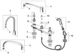 Sink Sprayer Diverter Connection by American Standard Heritage Deck Mount Kitchen Faucet Parts Catalog
