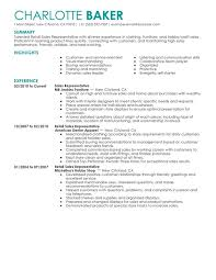 Rep Retail Sales Resume Examples – Free to Try Today