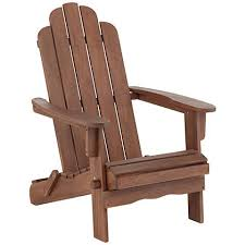 Living Accents Folding Adirondack Chair by Chandler Dark Natural Folding Adirondack Chair 8x302 Lamps Plus