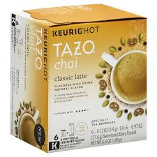 Tazo Keurig Hot Black Tea Chai Classic Latte K Cup Pods