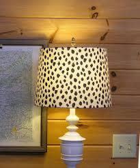 Lamp Shade Lampshade Dotted Fabric Beige Black Dots Animal Print Leopard Made To Order