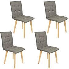 stühle im 4 er set modern esszimmerstühle küchenstühle wohnzimmerstuhl dunkelgrau polsterstuhl mit rückenlehne knöpfe echt holz beinen belastbar