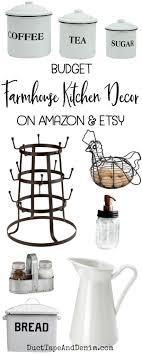 Budget Farmhouse Kitchen Decor On Amazon And Etsy DuctTapeAndDenim