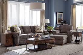 Broyhill Cambridge Sleeper Sofa by Cambridge Walnut Chenille Fabric Ottoman