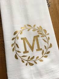 Amazon Monogrammed Kitchen Towel