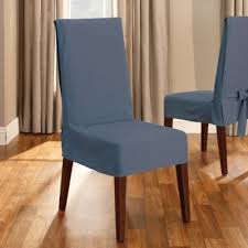 Bed Bath And Beyond Slipcovers For Chairs by Sure Fit Duck Supreme Cotton Short Dining Room Chair Slipcover