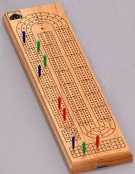 David Westnedge 3 Track Cribbage Board Wooden