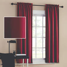 Light Blocking Curtain Liner by Mainstays Blackout Solid Woven Window Curtains Set Of 2 Walmart Com