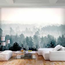 details zu vlies fototapete natur wald landschaft nebel tapete wandbilder schlafzimmer