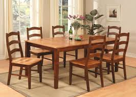 7PC Rectangular Dining Set Table 6 And Chairs In Espresso Cinnamon