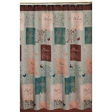 Heritage Blue Curtains Walmart by Butterfly Blessings Shower Curtain And Hook Set Walmart Com