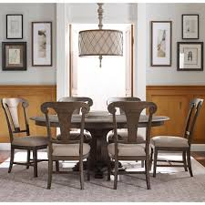 Seven Piece Dining Room Set by Kincaid Furniture Greyson Seven Piece Dining Set With Grant Round