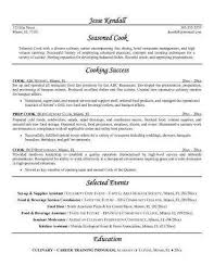 Culinary Resume Profile Examples Fresh Line Cook