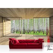 vlies fototapete no 2159 holz tapete holzoptik wald bäume birken fenster rahmen beige