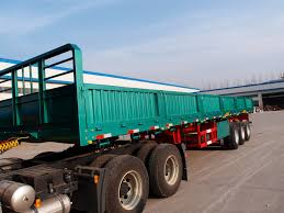 100 Truck Bed Trailers Multi Axle 40 Ft 48 Flat Bed Trailer Side Wall Semi Trailers CIMC
