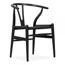designs wish holz esszimmerstuhl schwarzer gewebten sitz schwarz