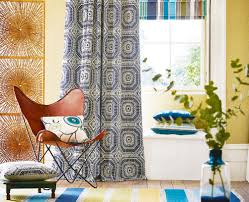 Grey Geometric Pattern Curtains by Decorating With Patterned Wallpaper Real Homes