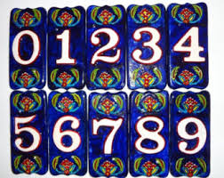 ceramic house number etsy