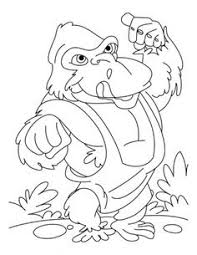 Karate Kid Gorilla Coloring Pages