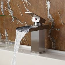Wall Mounted Waterfall Faucets For Bathroom Sinks by Waterfall Bathtub Faucet Tags Waterfall Bathroom Sink Faucet
