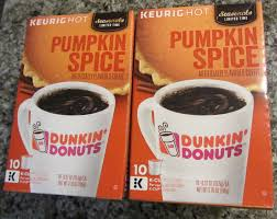Pumpkin Dunkin Donuts by 2 Boxes Dunkin Donuts Pumpkin Spice Keurig K Cups 10pk Nip Exp 8