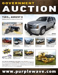 SOLD! August 8 Government Auction   PurpleWave, Inc. Government And Police Auctions For Cars Trucks Suvs Americas Beckort Llc June Online Only Surplus Seized Huge Auction 23rd 9am Vehicles Cars A Hot Item On Government Auction Website The Star Sold August 8 State Of South Dakota Auction Pu Tace Zambia Driven By Our Passion Exllence Run Lists Heavy Truck Dealer Fort Wayne Libertyauctionhousecom Database Gets Updated Daily Networkedcoentlistingimages26041197583b473f0143508c8b Nc Dps Vehicle Sales Calendar Auctioneers Fl Ga Al