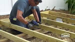 12x24 Shed Floor Plans by How To Build A Shed Foundation Youtube