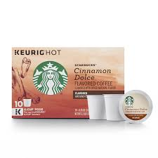 Starbucks Cinnamon Dolce Flavored Blonde Light Roast Single Cup Coffee For Brewers 1 Box Of 10 Total K Pods