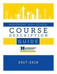 2017 18 MHS Course Description Guide By Mariemont City School