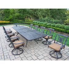 Cast Aluminum Patio Furniture With Sunbrella Cushions by 11 Piece Dining Set Ornate French Louis Xvi 11 Piece Dining Set