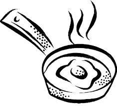 Fried Egg Hot Pan Coloring Pages