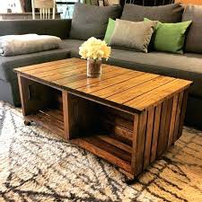 Crate Coffee Table Diy Dimensions How To Make Milk Wine For Sale
