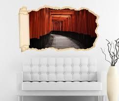 3d wandtattoo tapete tür durchgang eingang rot asiatisch durchbruch selbstklebend wandbild wandsticker wohnzimmer wand aufkleber 11o1901