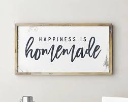 Happiness Is Homemade Sign Printable Kitchen Signs
