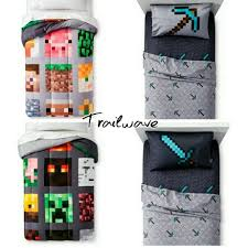 Minecraft Bedding Twin by Minecraft Twin Bedding Reversible Comforter W 3pc Twin Sheet Set