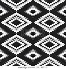 Seamless Pattern Turkish Carpet White Gray Black Patchwork Mosaic Oriental Kilim Rug With Traditional Folk Geometric Ornament Tribal Style Vector
