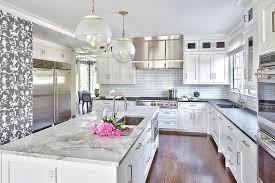 black and white kitchen kitchens stainless steel mini brick