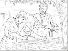 Marvelous Coloring Pages Jesus The Carpenter Son With And Lds