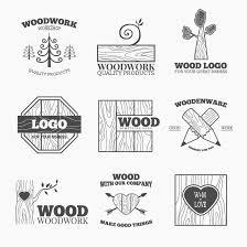 Wood Woodwork Logos Design Vector 02