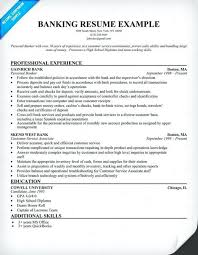 48 Resume Examples For Banking Jobs Competent Bank Template Sample Finance