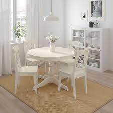 ingatorp ingolf tisch und 4 stühle weiß weiß 110 155 cm