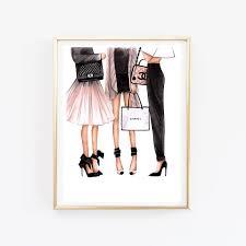 Fashion Illustration Chanel Art Print Wall