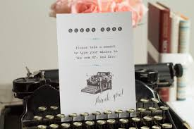 Typewriter Guest Book Sign Printable